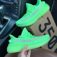 Green Adidas Yeezy Boost 350 V2 Fashion casual shoes