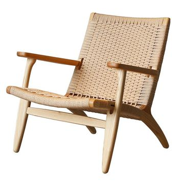 Weaving Contracted Soild Wood Armchair