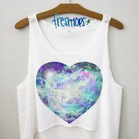 Galaxy in my Heart Crop Top | fresh-tops.com