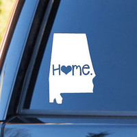 Alabama Home Decal | Alabama State Decal | Homestate Decals | Rolltide | Love Sticker | Love Decal  | Car Decal | Car Stickers | Bumper |041