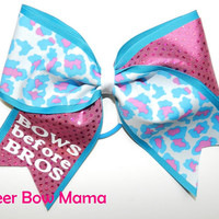 BOWS before BROS... Cheetah Cheer Bow