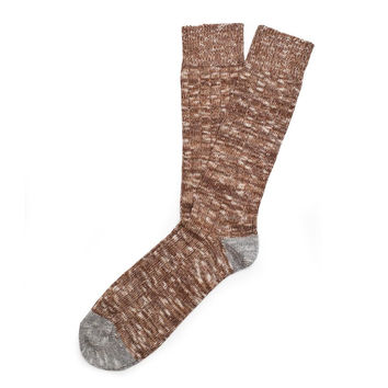 Etiquette Mens Roppongi Knit Printed Casual Socks