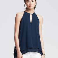 Banana Republic Womens Keyhole Layered Halter