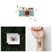 Pixel Dust - Temporary Tattoo (Set of 2)