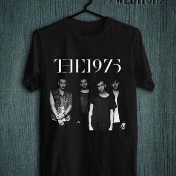 The 1975 Printed UK Band Indy T Shirt Black Color Men and Women Tee Unisex Size - LX3