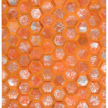 Michael Amini City Chic Tangerine Area Rug By Nourison MA100 TANGR (Rectangle)