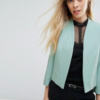 New Look Crop Tailored Jacket at asos.com