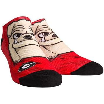 NCAA Georgia Bulldogs Mascot Low Ankle Socks