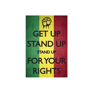 Cheap Dorm Wall Poster - Bob Marley Stand Up For Your Rights - Dorm Door Decor