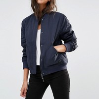 Lee Padded Bomber Jacket at asos.com