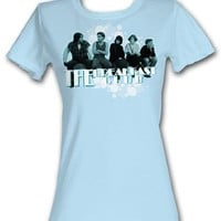 The Breakfast Club Junior T-Shirts - BFC Sitting Around Powder Blue Tee Shirt