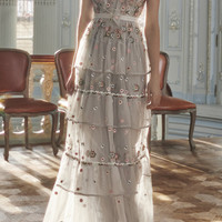 Whimsical Embroidered Gown | Moda Operandi