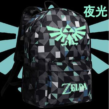 Anime Backpack School 2018 New The Legend of Zelda Breath of the Wild Cosplay Backpack Luminous kawaii cute women Schoolbag shoulder bag men travel bag AT_60_4