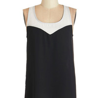 ModCloth Colorblocking Mid-length Sleeveless Get a Groove On Top