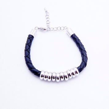 Ten Lucks Bracelet - Silver/Black