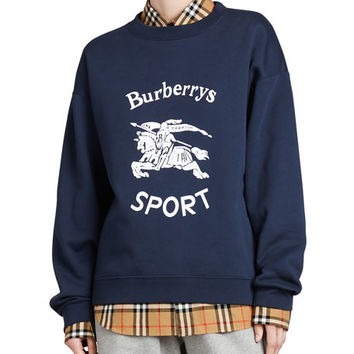 Burberry Re-Issued Capsule Jersey Archive Crewneck Logo Sweatshirt