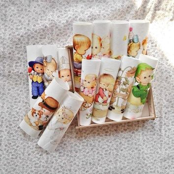 angel patchwork child digital print painting fabric cotton hand dyed Sewing DIY Patchwork Hand Embroidery Quilting Bags Tecido