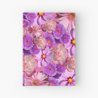 'pink & purple flowers' Hardcover Journal by KandM