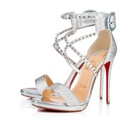 Choca Lux 120 Version Silver Lurex AB - Women Shoes - Christian Louboutin