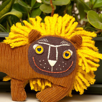 Little Sunshine Plush Lion, soft toy by Wassupbrothers. Free Worldwide Shipping