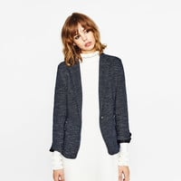 BLAZER WITH ELBOW PATCHES - NEW IN-WOMAN | ZARA United Kingdom