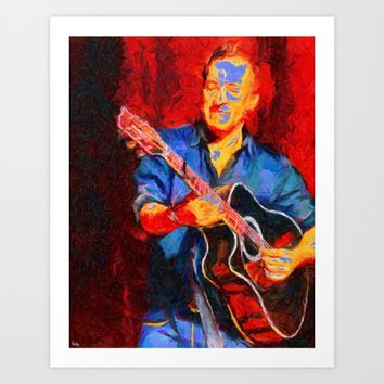 The Guitarist Art Print by Texnotropio