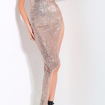 Tamara Asymmetrical Sequin Gown