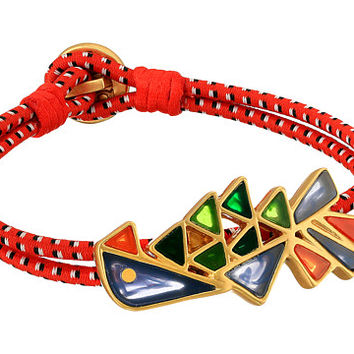 Tory Burch Parrot Bungee Bracelet Multi/Vintage Gold - Zappos.com Free Shipping BOTH Ways