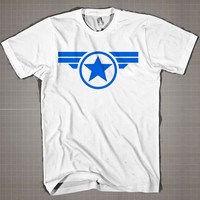 Steve Rogers Super Soldier Logo  Mens and Women T-Shirt Available Color Black And White
