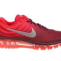 DCCK6H0 Nike Men's Air Max 2017 Maroon/White/Gym Red Nylon Running Shoes 13 M US