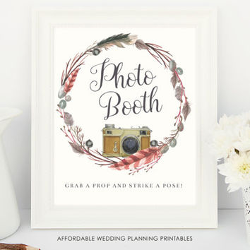 Grab a prop and strike a pose, photobooth wedding display, wedding signs, ready to print sign, photobooth props, digital download, prop