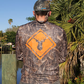 Deer Crossing Camo UPF Long Sleeve Shirt
