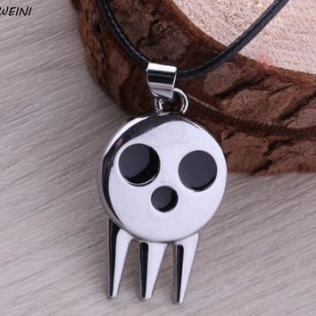 Anime Soul Eater Death The Kid Skull Shape Pendant Necklace Chain