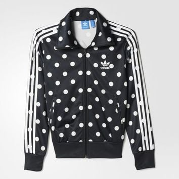 adidas Dots Allover Print Firebird Track Jacket - Black | adidas US