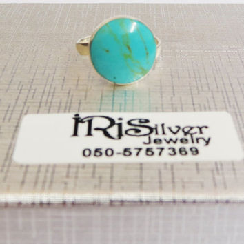 Beach Ring, Simple Ring, Sterling silver ring, Adjustable ring, Ocean Wave Ring, All Sizes Ring, Sea Rings, Turquoise Ring, Beach Jewelry,