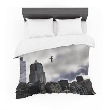 """Sylvia Cook """"Seattle Skyline"""" City Clouds Featherweight Duvet Cover"""