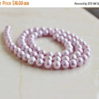 49% Off Sale Freshwater Pearl Lilac Lavender 6 to 6.5mm 65 beads Full Strand