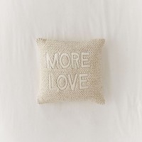 More Love Crochet Throw Pillow | Urban Outfitters