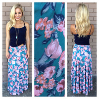 Blush Tulip Roll Down Maxi Skirt
