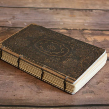 Small Rome Book with Coptic Binding -Travel journal - Graduation Gift, Pocket Book