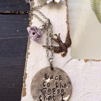 Hammered Quarter necklace or bracelet ~ stevie nicks gypsy style ~ back to the gypsy that I was ~ metal stamped