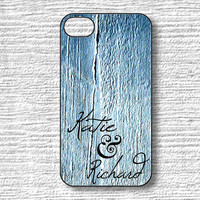 Custom Name iPhone 4 4S 5 5S 5 C Samsung Galaxy Cases Blue Jean Wood Ships from USA