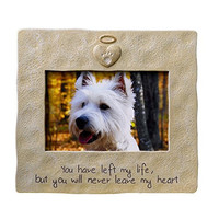 Pet Memorial Photo Frame - You Have Left My Life, But You Will Never Leave My Heart