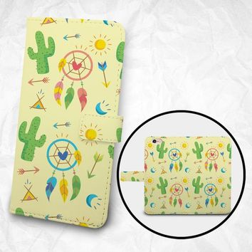 Cactus wheel feather wallet phone case for iPhone X iPhone 8 iPhone 8 plus, Samsung S9 Samsung S9 Plus, Samsung Note 8, LG G7, OnePlus 6
