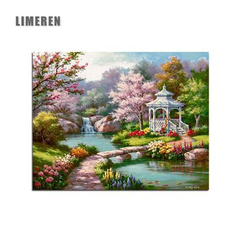 Wonderland Spring Scenery Landscape DIY Oil Digital Painting By Numbers Modern Wall Art Picture For Home Wall Artwork