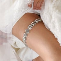 Bridal Garter - Medium - Wedding Garter with Crystals