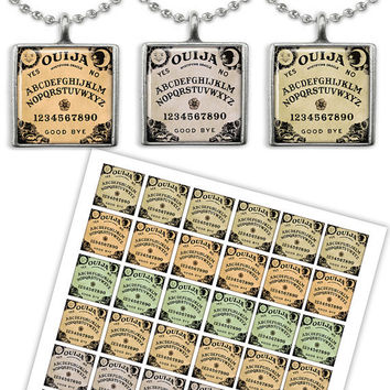 Ouija Board Square images for Jewelry making, Scrapbooking, Magnets Printable Digital collage sheet OBS1