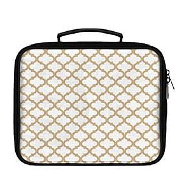 Quatrefoil Pattern Solid on White Lunch Box