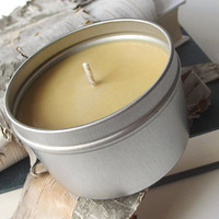 Soy Candle - Beer scented Soy Candle Tin -- 8 ounce Tin -- Man Friendly Candle