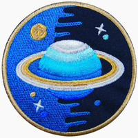 Saturn Planet Space NASA Sew Iron On Embroidered Patch